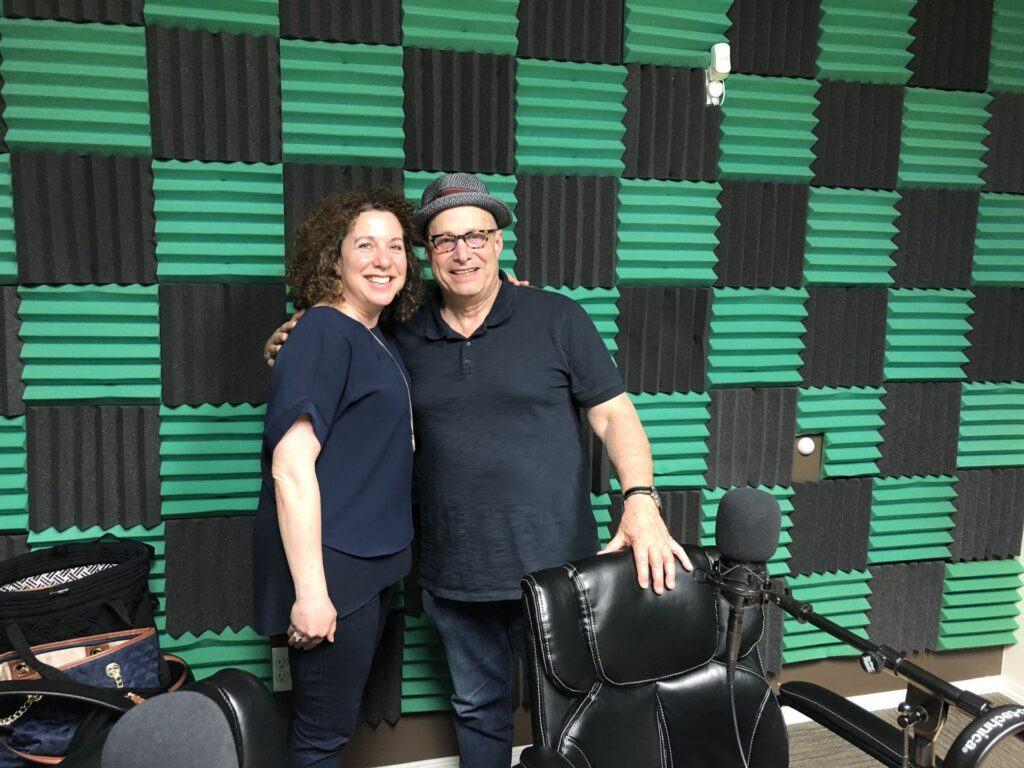 make meaning podcast host Lynne Golodner and guest